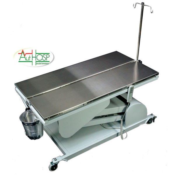 mesa cirúrgica veterinária com calha
